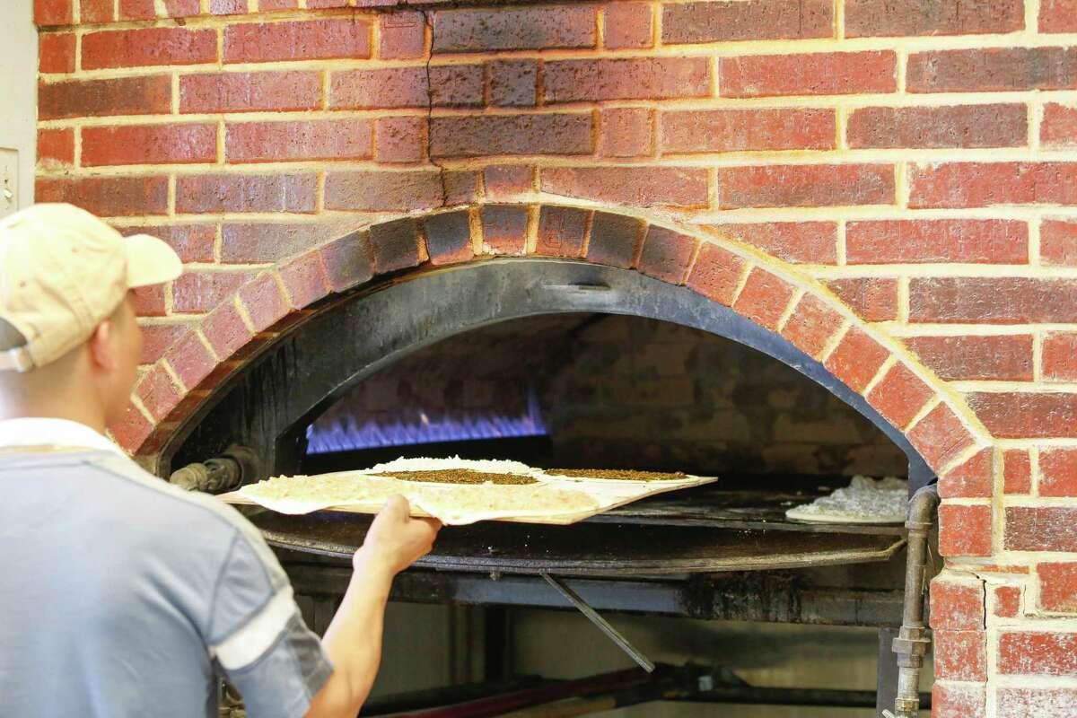 The brick oven at Cedars Bakery