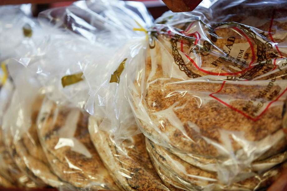 Pita bread at Cedars Bakery, Jan. 17, 2014 in Houston.