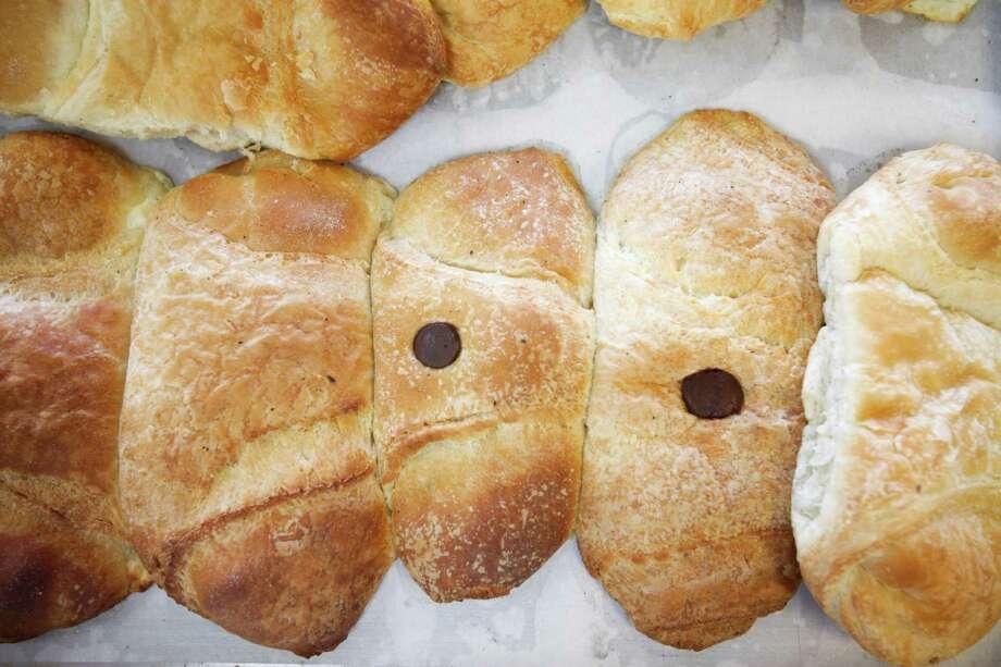 Cheese, chocolate and oregano croissants at Cedars Bakery, Jan. 17, 2014 in Houston.  (Eric Kayne/For the Chronicle) Photo: Eric Kayne / Eric Kayne