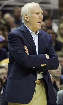 San Antonio Spurs head coach Gregg Popovich reacts after a play during first half action against the Minnesota Timberwolves Sunday Jan. 12, 2014 at the AT&T Center. Photo: Edward A. Ornelas, San Antonio Express-News