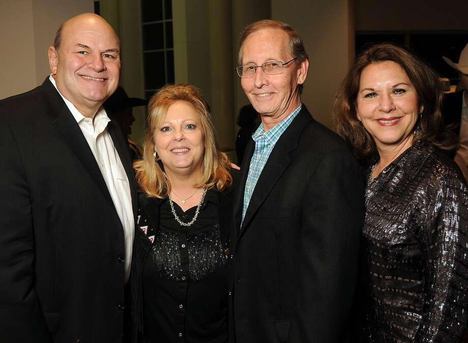 From left: Randy and Marilyn Braud with Jim Jackson and Colleen Estes Photo: Dave Rossman, For The Houston Chronicle