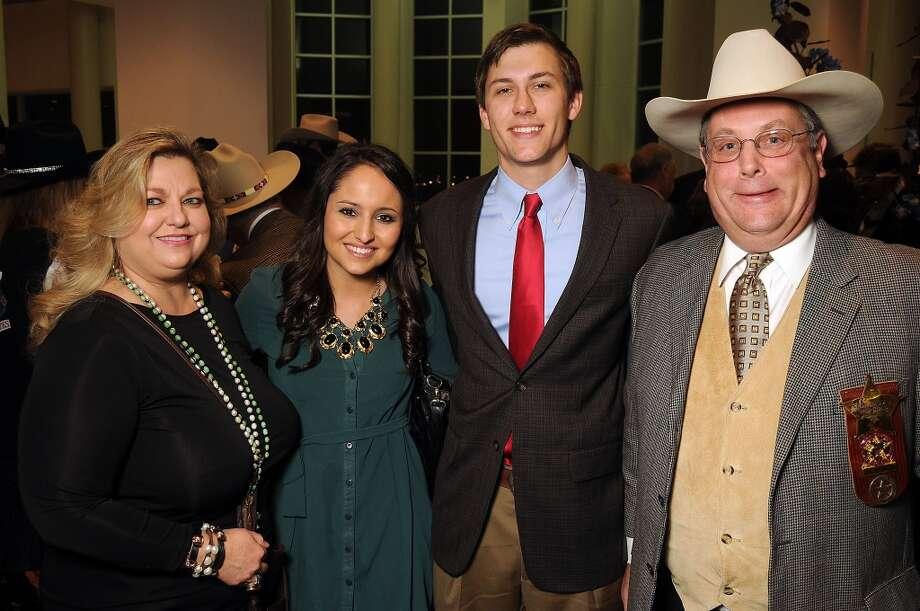 From left: Katrina Arnim, Alyssa Spruill, Tyler Reiley and Cecil Arnim Photo: Dave Rossman, For The Houston Chronicle