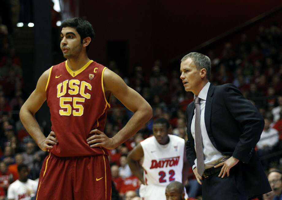 Omar Oraby and coach Andy Enfield were victorious against Dayton, but not in the Pac-12. Photo: Skip Peterson, Associated Press