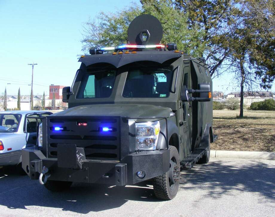 Two Selma police officers drove the city's newest crime-fighting tool, the Ballistic Armored Tactical Transport (BATT), from Detroit to Selma in December. Photo: David DeKunder / NE Herald