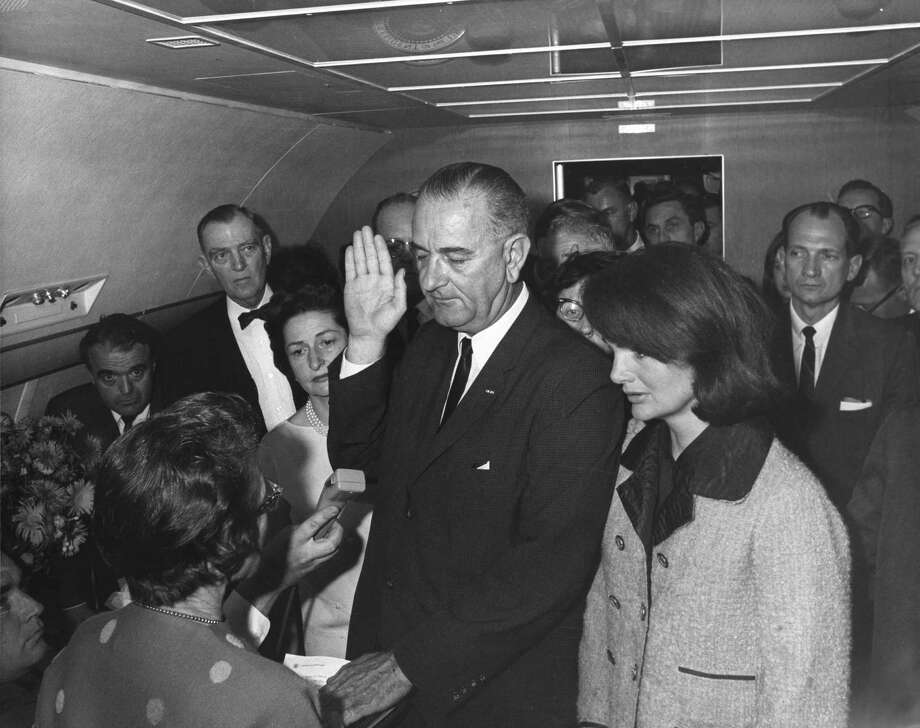 Lyndon B. Johnson was sworn in as president on Nov. 22, 1963. Photo: Cecil Stoughton / handout
