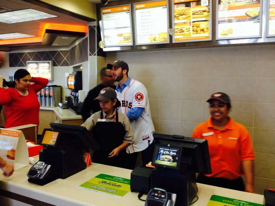 Anthony Bass is getting ready to take orders at Alvin's Whataburger. Photo: Jose De Jesus Ortiz, Houston Chronicle