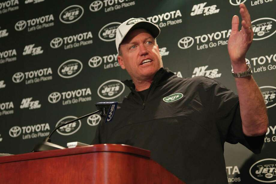 "Rex RyanIt's not often you get an NFL head coach who will speak his mind on the podium, but the head honcho of the New York Jets doesn't shy away from letting his true feelings be known. Before facing the crosstown Giants in 2011, Ryan said: ""I came here to win, to be looked at that way, and to take over not just this city -- even though it's the city to take over -- but also the league. I haven't accomplished that yet. Saturday, I think, will go a long way toward doing that."" Photo: Al Pereira, New York Jets/Getty Images / 2013 Al Pereira"