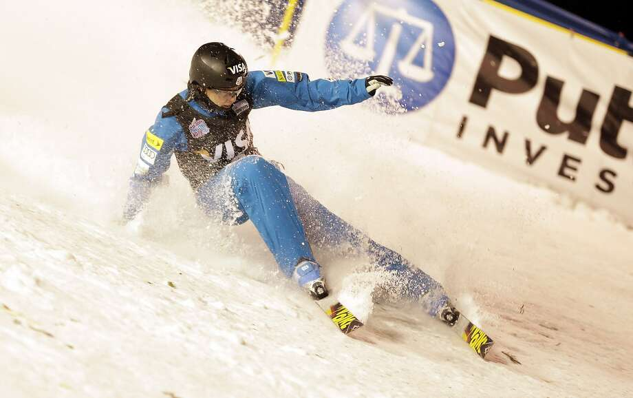 Emily Cook, 35, crashing this month in Utah, finished 19th at the 2010 Games and 11th in 2006. Photo: Rick Bowmer, Associated Press