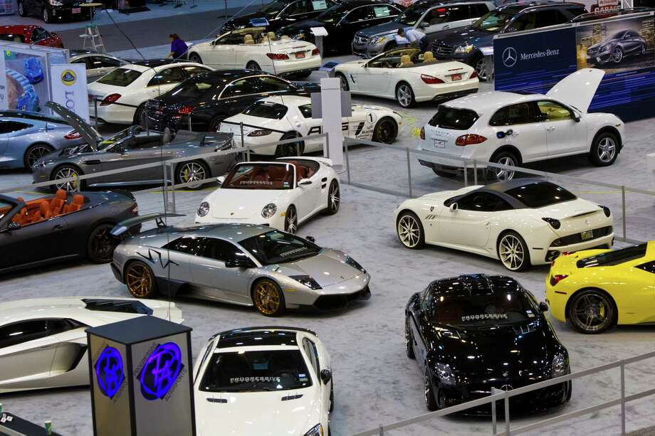 European sports cars on display at the Houston Auto Show,  Tuesday, Jan. 21, 2014, at Reliant Center in Houston. The Houston Auto Show is a show for car enthusiasts and customers displaying about 500 cars. Photo: Marie D. De Jesus, Houston Chronicle / © 2014 Houston Chronicle