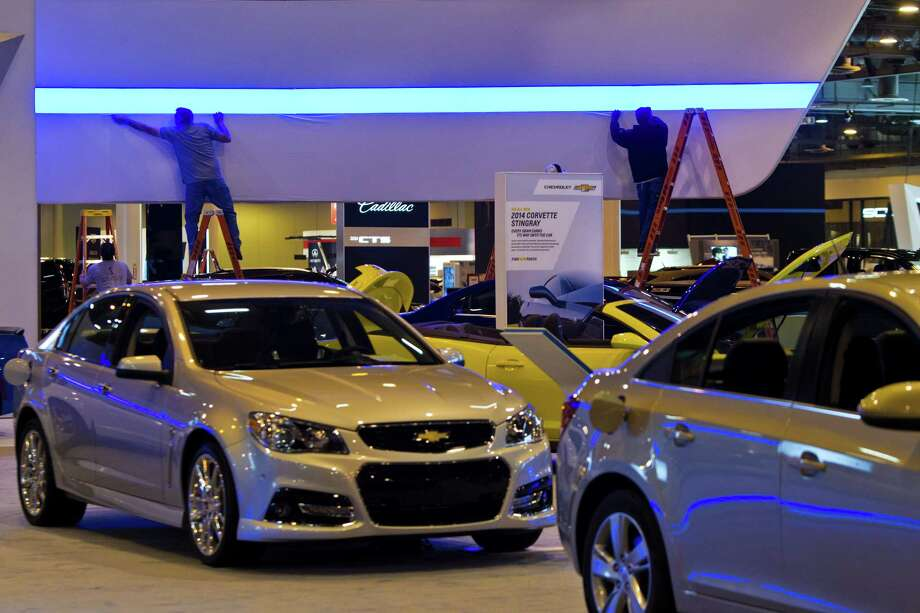 The last details are finished at the Chevrolet display located at Reliant Center for the Houston Auto Show, Tuesday, Jan. 21, 2014. Photo: Marie D. De Jesus, Houston Chronicle / © 2014 Houston Chronicle