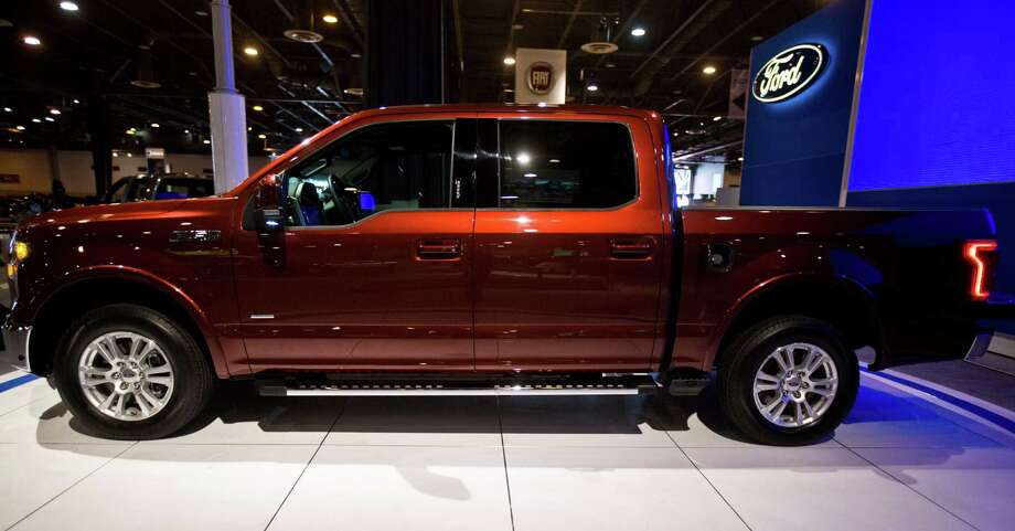 Ford F-150 pick-up truck built with an aluminum auto-body, is on display at the Houston Auto Show, Tuesday, Jan. 21, 2014, in Houston. Photo: Marie D. De Jesus, Houston Chronicle / © 2014 Houston Chronicle