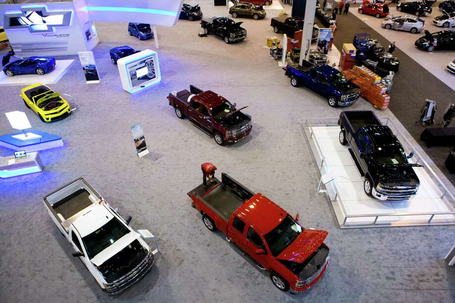 View of the Chevrolet display preparing for the Houston Auto Show, Tuesday, Jan. 21, 2014, at Reliant Center in Houston. Photo: Marie D. De Jesus, Houston Chronicle / © 2014 Houston Chronicle