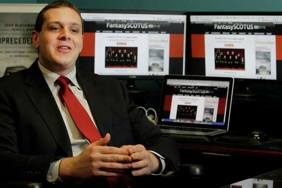 FantasySCOTUS  is the brainchild of Josh Blackman, a professor at Houston's  South Texas College of Law.