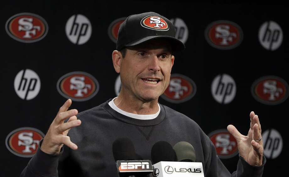Jim Harbaugh acknowledged the Browns have contacted him about an assistant coach. Photo: Ben Margot, Associated Press