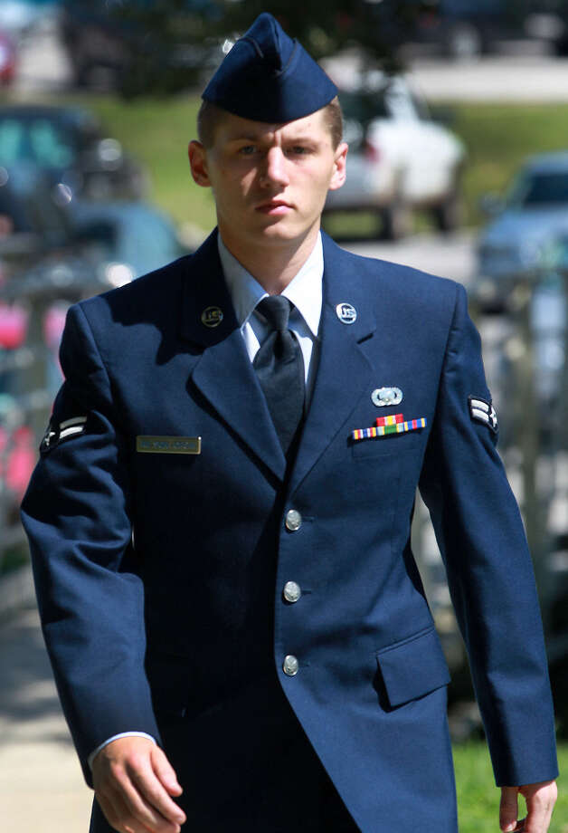 Airman 1st Class Nathan Wilson-Crow is charged with two counts of rape, among other charges. Photo: San Antonio Express-News / File Photo / ©San Antonio Express-News/Photo may be sold to the public