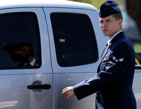 April 21, 2014: Military judge Col. Donald Eller Jr. found Airman 1st Class Nathan Wilson-Crow, a photographer, guilty of four charges and five specifications of misconduct, one of which carried a possible 15-year prison sentence. Wilson-Crow was tried making sexual contact and exposing himself to at least two girls from O'Connor High School at a youth camp in April 2013. Read more: Airman guilty of some charges in Lackland sex case Photo: SAN ANTONIO EXPRESS-NEWS / ©San Antonio Express-News/Photo may be sold to the public