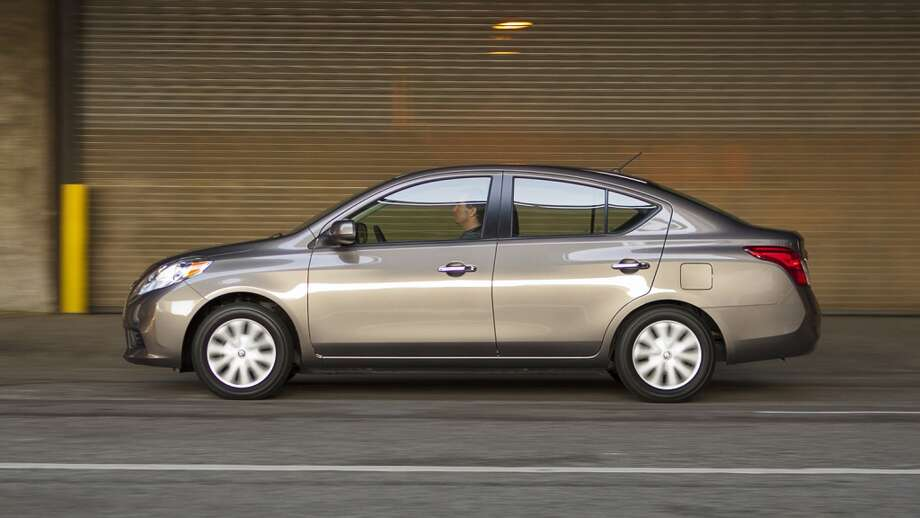 Nissan Versa sedansize> Overall: poor Structure: poor Restraints & kinematics:marginal Head & neck:good Chest: good Hip & thigh: good Lower leg & foot: poor Photo: Mike Ditz