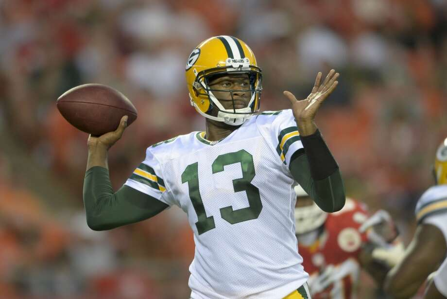 Vince Young as the Green Bay Packers quarterback. Photo: Reed Hoffman, Associated Press