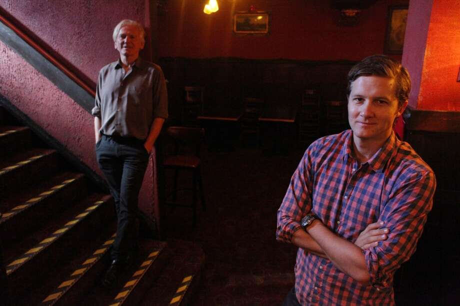 Guy Carson (l to r), previous Cafe Du Nord owner, and Dylan MacNiven, new Cafe Du Nord owner, is seen at Cafe Du Nord on Wednesday, December 10, 2013  in San Francisco, Calif. Photo: Lea Suzuki, The Chronicle