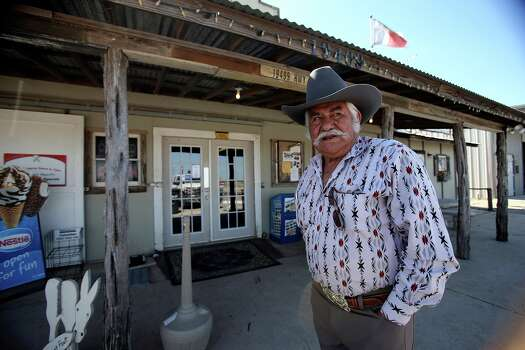 Humberto Montalvo stands in front of his Gillett General Store which is experiencing brisk business due to the oil boom in South Texas.   March 14, 2013. Photo: TOM REEL, San Antonio Express-News / San Antonio Express-News