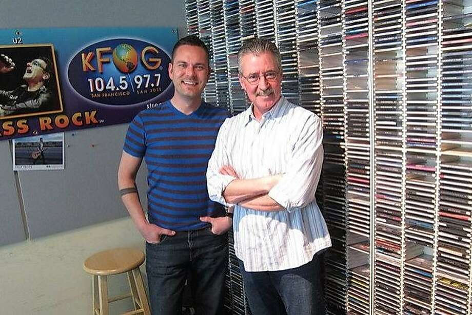 Greg Gory (left) and Bill Pugh of KFOG radio. Gory is leaving to join a morning team in Los Angeles, beginning in April. Photo: Ben Fong-Torres