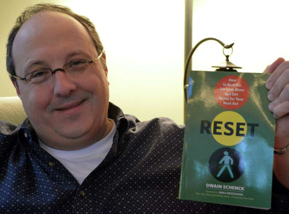 "Westport resident Dwain Schenck turned the negative of losing his job into a positive with the recent release of his first book -- ìReset: How to Beat the Job-Loss Blues and Get Ready for Your Next Act"" -- chronicling his experiences. Photo: Jarret Liotta / Westport News contributed"