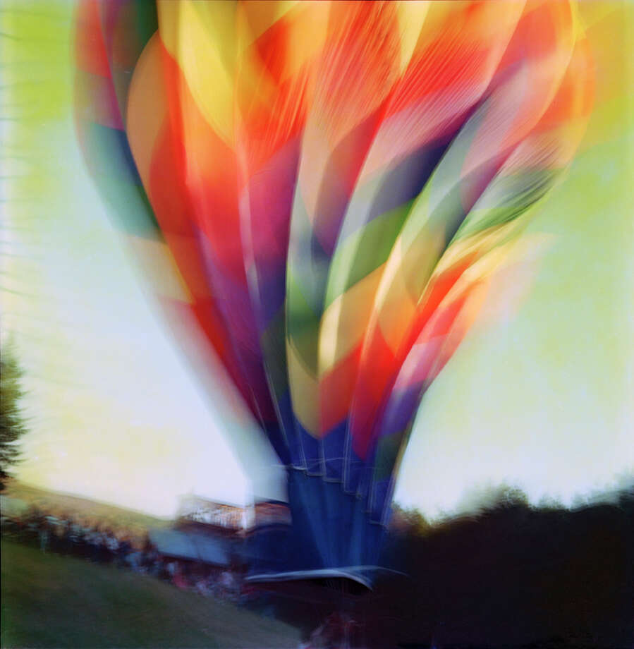 "This photograph, called ""Audette's Balloon,"" by David Blackett, is on view as part of a new exhibit at The Gallery at Still River Editions in Danbury. The two-person show also features the work of Lys Guillorn. Photo: Contributed Photo / The News-Times Contributed"