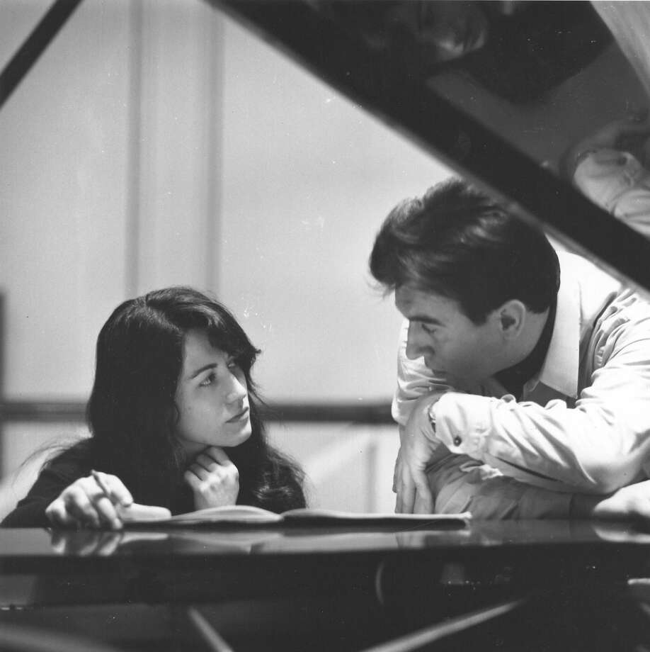 Italian conductor Claudio Abbado works on music with pianist Martha Argerich in 1968, a decade after he made his professional debut in Trieste. Photo: Erich Auerbach, Getty Images