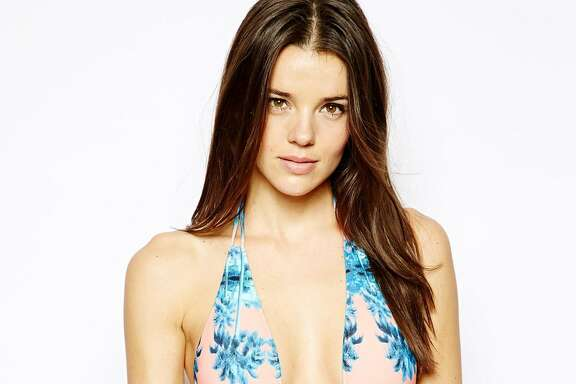 Reflective palm plunge swimsuit, $60 at asos.com.