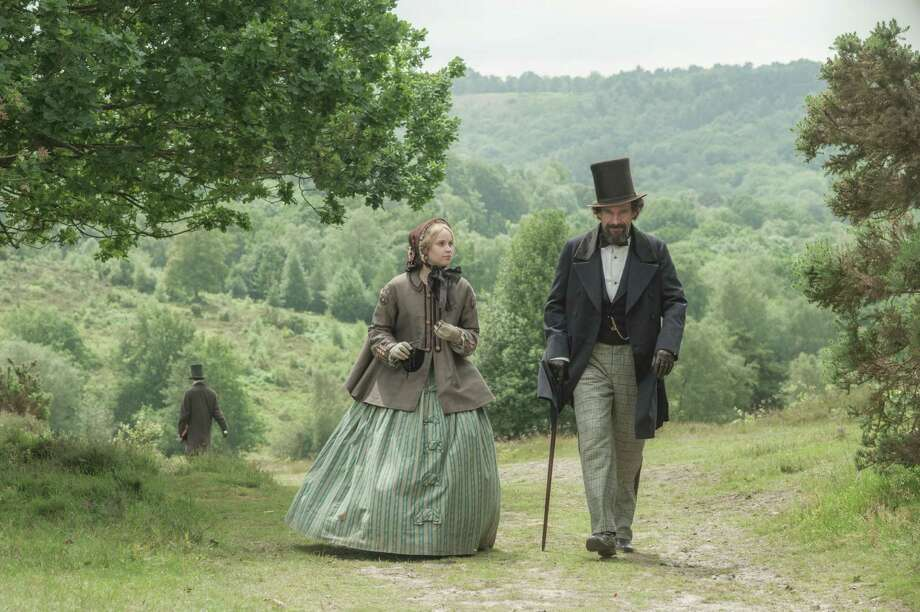"This image released by Sony Pictures Classics shows Felicity Jones, left, as Nelly Ternan, and Ralph Fiennes as Charles Dickens, in a scene from ""The Invisible Woman."" (AP Photo/Sony Pictures Classics, David Appleby) ORG XMIT: CAET550 Photo: David Appleby / Sony Pictures Classics"