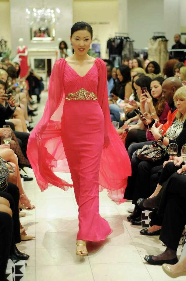 Saks Fifth Avenue showcased gala-ready gowns for Mardi Gras in Galveston. Photo: Dave Rossman, Freelance / © 2013 Dave Rossman