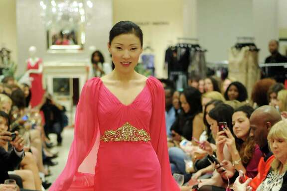 Saks Fifth Avenue showcased gala-ready gowns for Mardi Gras in Galveston.