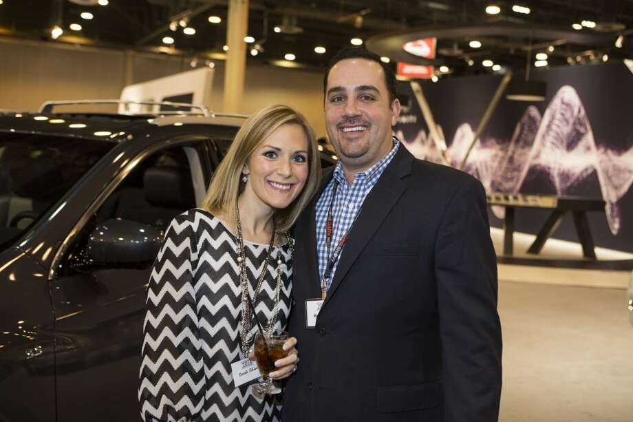 Sarah and Matt Shivers attend the Houston Auto Show's 30th Anniversary Preview Party Tuesday, Jan. 21, 2014, in Houston. ( Nick de la Torre