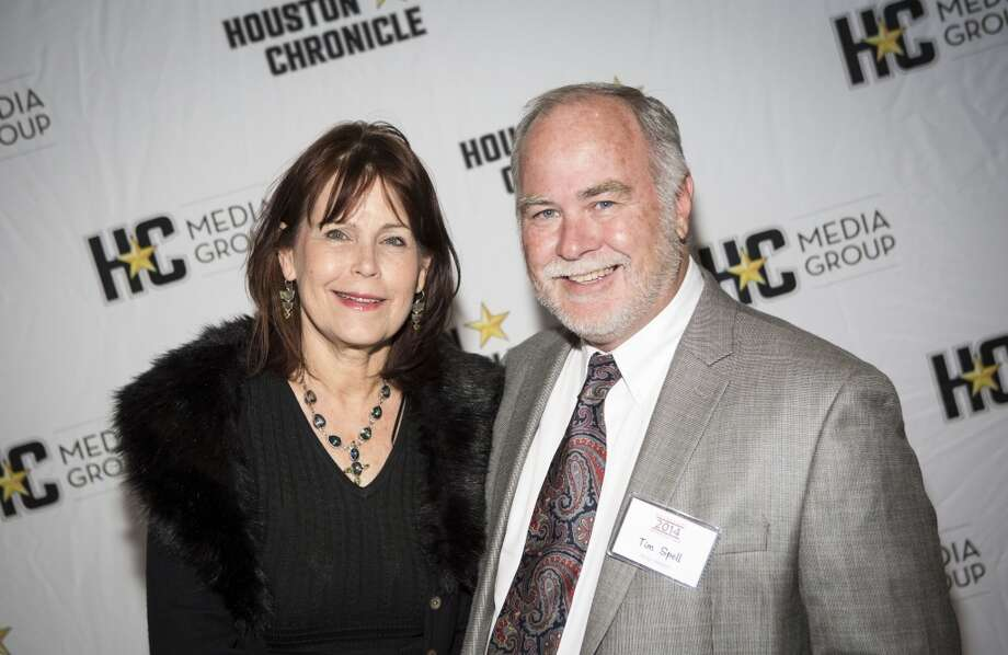 Melissa and Tim Spell attend the Houston Auto Show's 30th Anniversary Preview Party Tuesday, Jan. 21, 2014, in Houston. ( Nick de la Torre