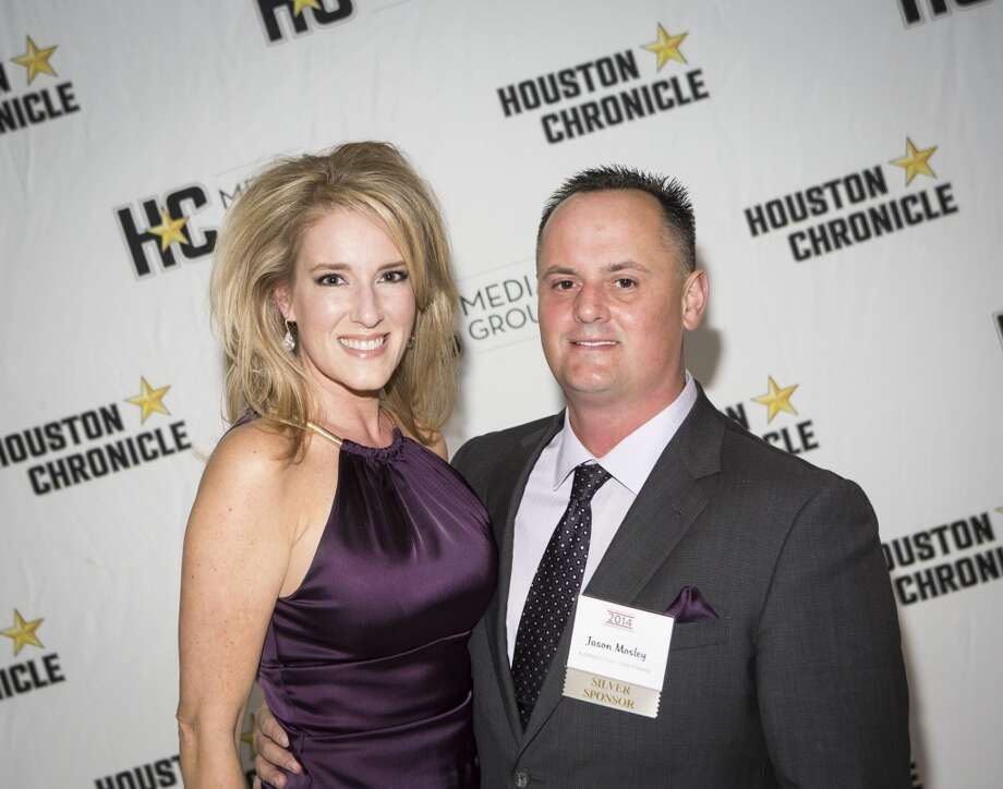 Jennifer and Jason Mosley attend the Houston Auto Show's 30th Anniversary Preview Party Tuesday, Jan. 21, 2014, in Houston. ( Nick de la Torre