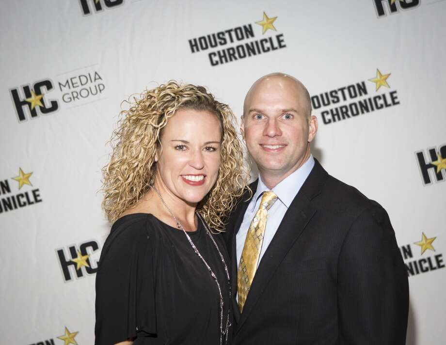Kendall Kobaza, left, and Cale Kobaza attend the Houston Auto Show's 30th Anniversary Preview Party Tuesday, Jan. 21, 2014, in Houston. ( Nick de la Torre