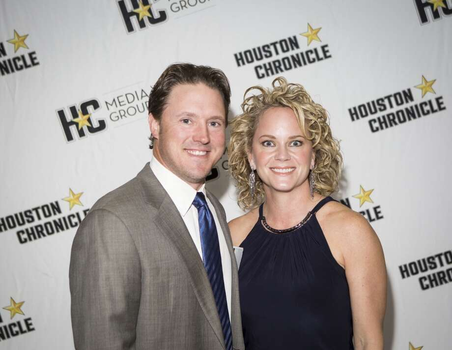 Brad and Halle Waggoner attend the Houston Auto Show's 30th Anniversary Preview Party Tuesday, Jan. 21, 2014, in Houston. ( Nick de la Torre