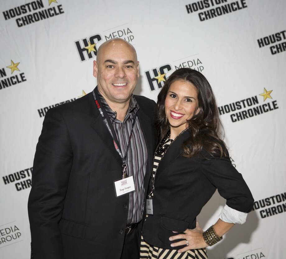 Jorge and Kim Vargas attend the Houston Auto Show's 30th Anniversary Preview Party Tuesday, Jan. 21, 2014, in Houston. ( Nick de la Torre