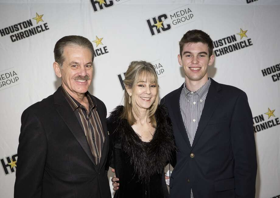David Murray, left, Jan Murray, center, and Landon Murray attend the Houston Auto Show's 30th Anniversary Preview Party Tuesday, Jan. 21, 2014, in Houston. ( Nick de la Torre
