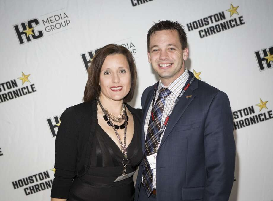 Amy and Brent Cockerham attend the Houston Auto Show's 30th Anniversary Preview Party Tuesday, Jan. 21, 2014, in Houston. ( Nick de la Torre