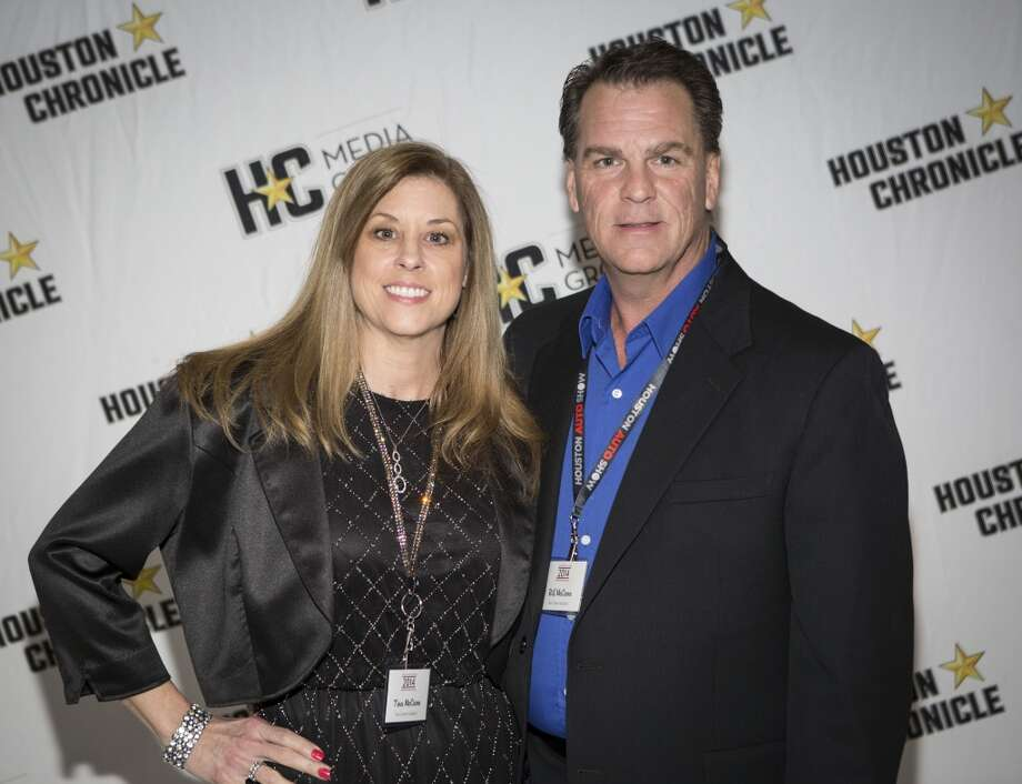 Tina and Bill McCann attend the Houston Auto Show's 30th Anniversary Preview Party Tuesday, Jan. 21, 2014, in Houston. ( Nick de la Torre