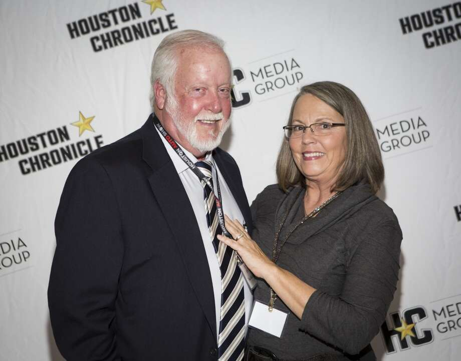 Travis and Jane McKenzie attend the Houston Auto Show's 30th Anniversary Preview Party Tuesday, Jan. 21, 2014, in Houston. ( Nick de la Torre