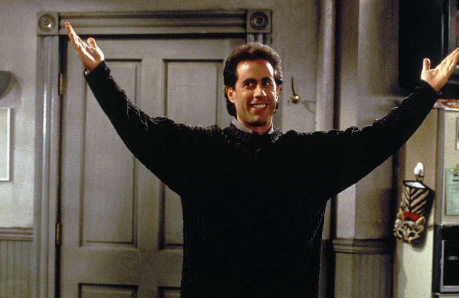 """You're soooooo good lookin'."" — What you should say when someone sneezes, according to ""Seinfeld."" (But don't do it at work, you might get fired.)PHOTO: Jerry Seinfeld in the ""Seinfeld"" episode ""The Blood."" Photo: Joseph Delvalle, NBCU Photo Bank Via Getty Images / © NBC Universal, Inc."