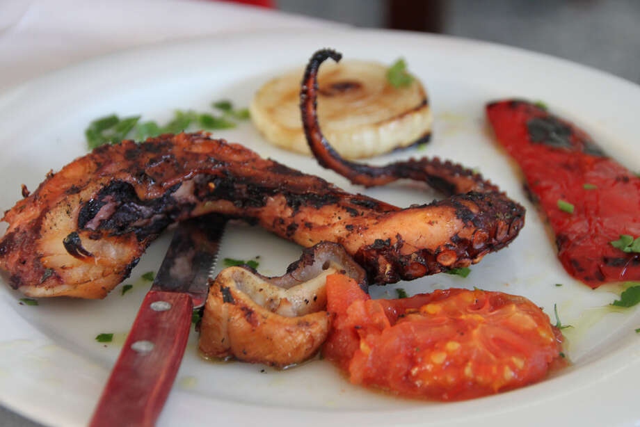 What:grilled octopus, $15Where: Taverna Kyklades, 33-07 Ditmars Blvd., Queens, and 221 1st. Ave., ManhattanI don't know what they do to get the grilled octopus so tender, but it's just so, so good. You'll wait in line at the original Astoria, Queens location for sure. They don't take reservations. Beware, the portions here are huge. Photo: Klearchos Kapoutsis/Flickr.com