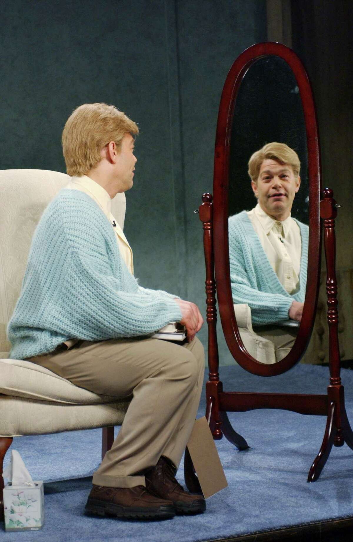 """""""Because I'm good enough, smart enough, and, doggone it, people like me!"""" - Stuart Smalley on """"Saturday Night Live."""" PHOTO: Stuart (Al Franken) during a """"Daily Affirmation"""" skit on Dec. 14, 2002."""