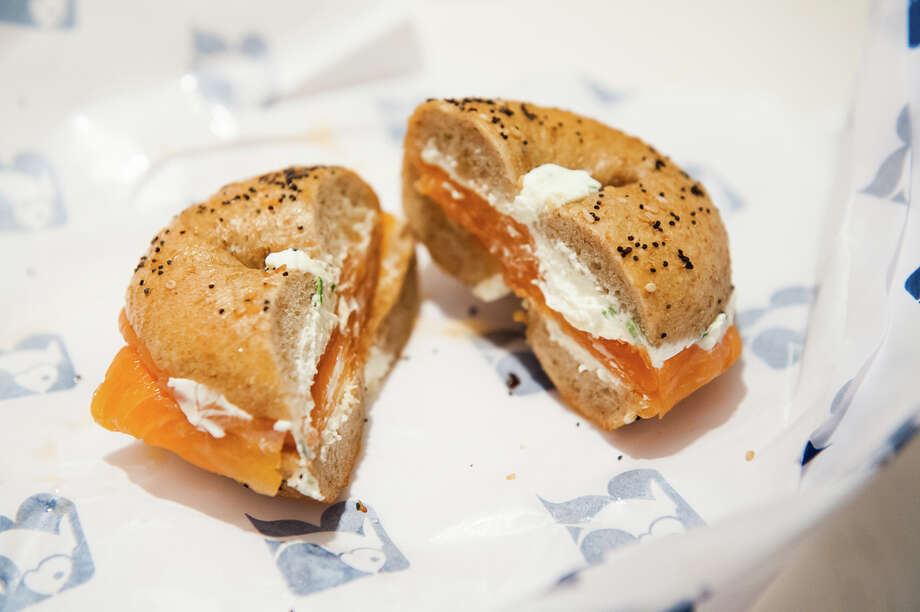 "What: lox and cream cheese on a bagel, (price varies)Where: Russ & Daughters, 179 East Houston St.The lone surviving Jewish ""appetizing store"" in the Lower East Side serves up super legit New York classics. Bonus: it is extremely close to Katz's deli where you can get a pastrami sandwich and relive the infamous orgasm scene from ""When Harry Met Sally."" Photo: Star5112/Flickr.com"