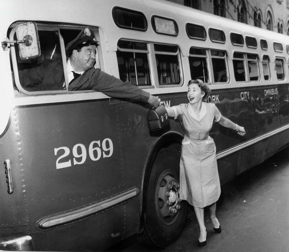 """Baby, you're the greatest.""— Ralph to Alice on ""The Honeymooners.""PHOTO: Alice Kramden (Audrey Meadows) hands Ralph Kramden (Jackie Gleason) a lunch box while he sits behind the wheel of a bus in ""The Honeymooners,"" 1955. Photo: CBS Photo Archive, Getty Images / Archive Photos"
