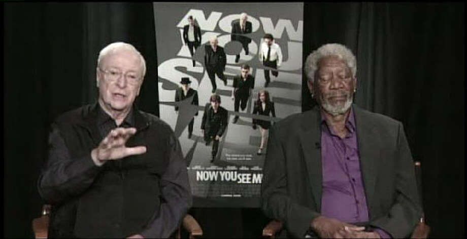 "While promoting the movie ""Now You See Me"" with co-star Herman Caine, Morgan Freeman took a few naps during a live interview with a Fox News affiliate."