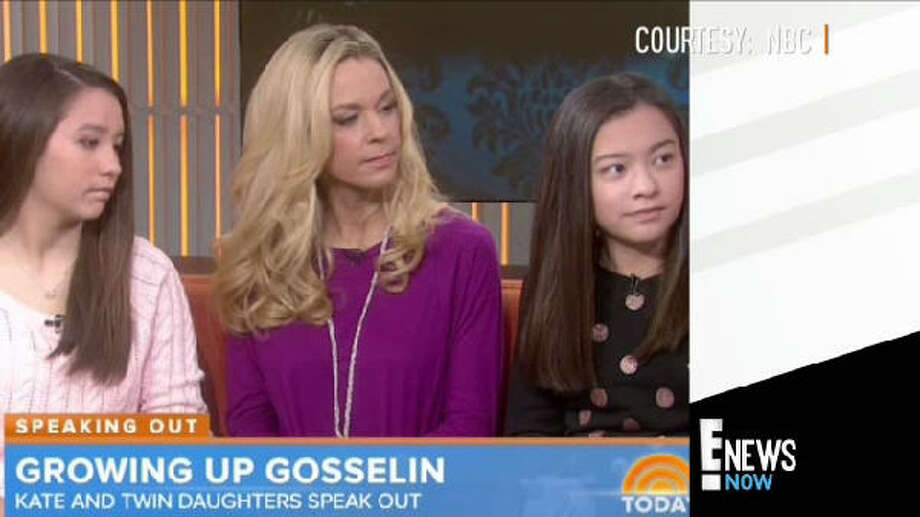 "Kate Gosselin, the star of Jon & Kate Plus 8, brought her children with her on the ""Today Show."" The interview quickly took a turn for the worse when 13-year-old girls Cara and Mady went silent during the interview. Photo: Today Show"