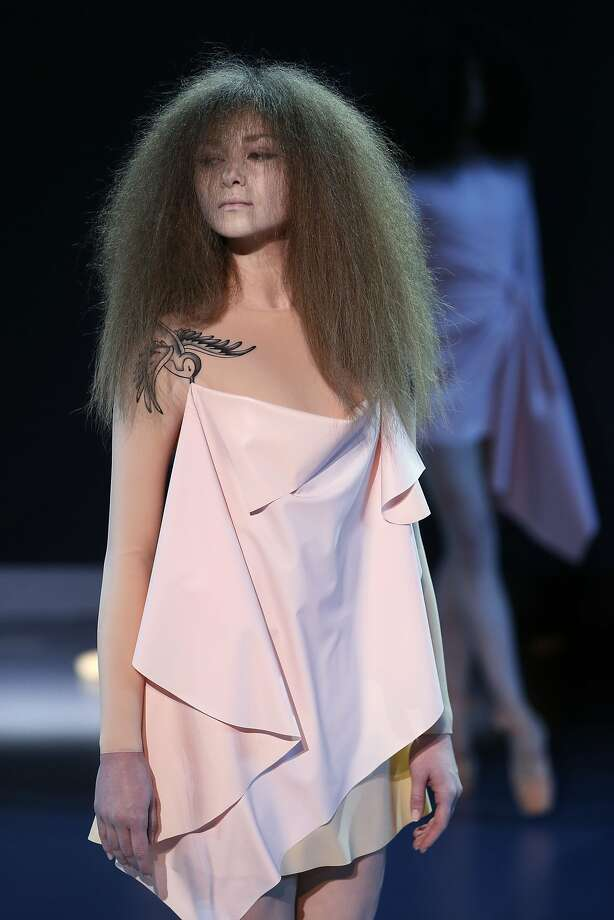 A model presents a creation by Viktor&Rolf during the Haute Couture Spring-Summer 2014 collection show, on January 22, 2014 in Paris. Photo: Patrick Kovarik, AFP/Getty Images